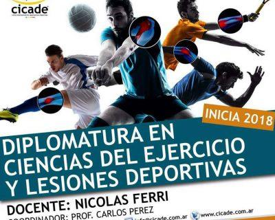 Matrícula – Online – Diplomatura en Ciencias del Ejercicio y Lesiones Deportivas